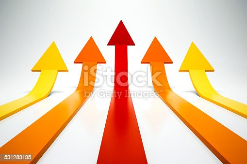 istock 3d arrows pointing up 531283135