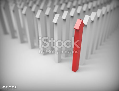 istock 3d arrows-red leader 508173829
