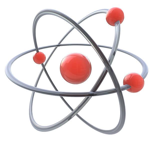 3d atom symbol - foto de acervo