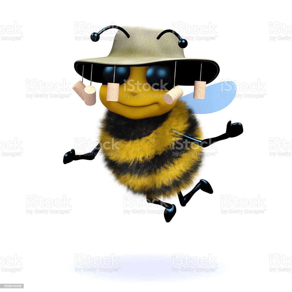3d Australian honey bee stock photo