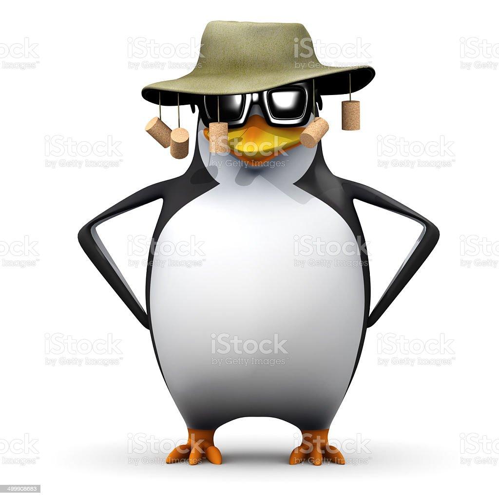 3d Australian penguin stock photo