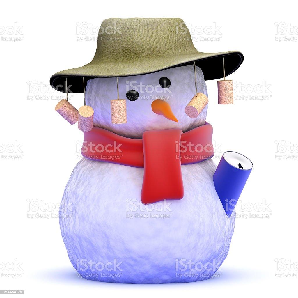 3d Australian snowman stock photo