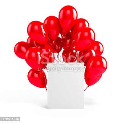 istock 3d balloons and blank box 478415610