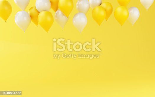 istock 3d Balloons birthday party decoration 1048834772