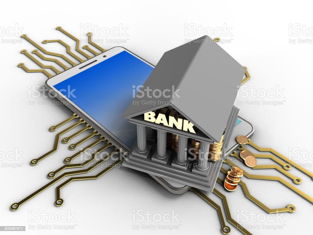 3d bank stock photo