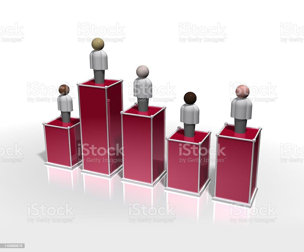 3d Bar Graph Demographics stock photo