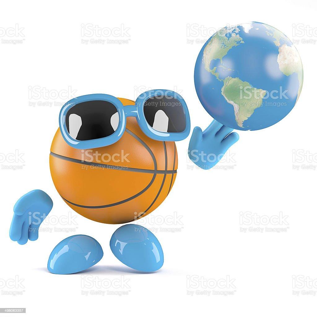 3d Basketball globe stock photo