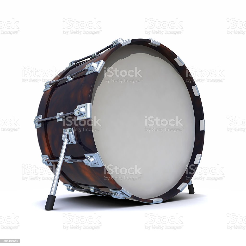 3d Bass drum stock photo