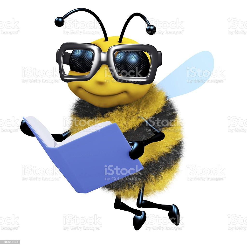 3d Bee student stock photo