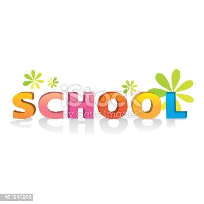 istock 3d bevel cartoon text school typographic elements vintage isolat 461942925