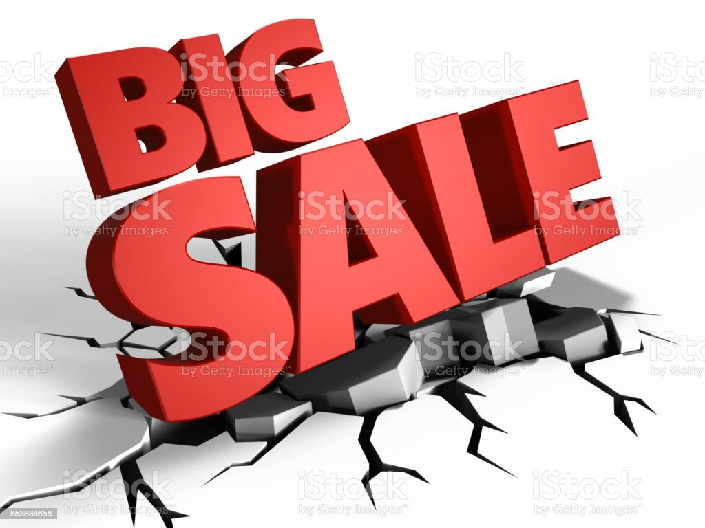 3d big sale stock photo