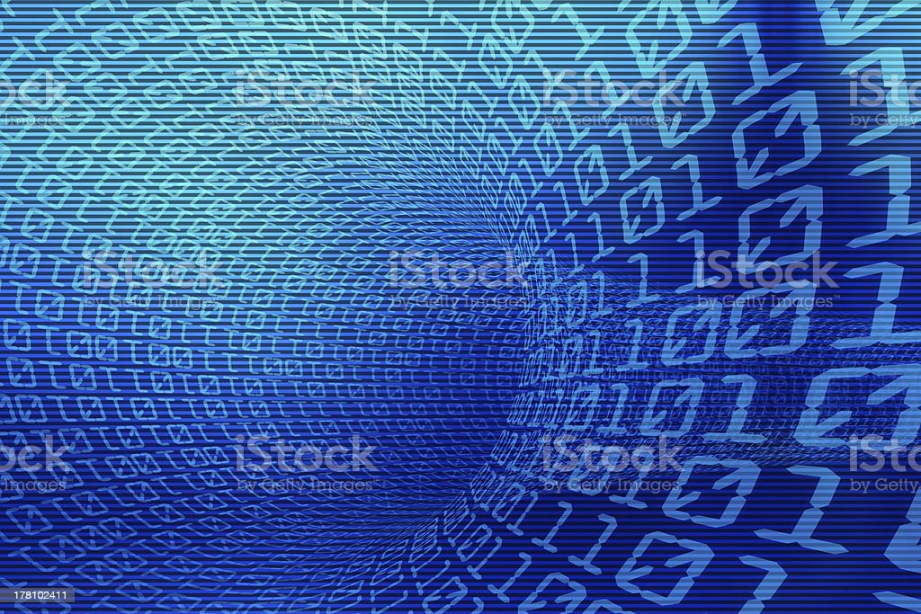 3d binary code stock photo
