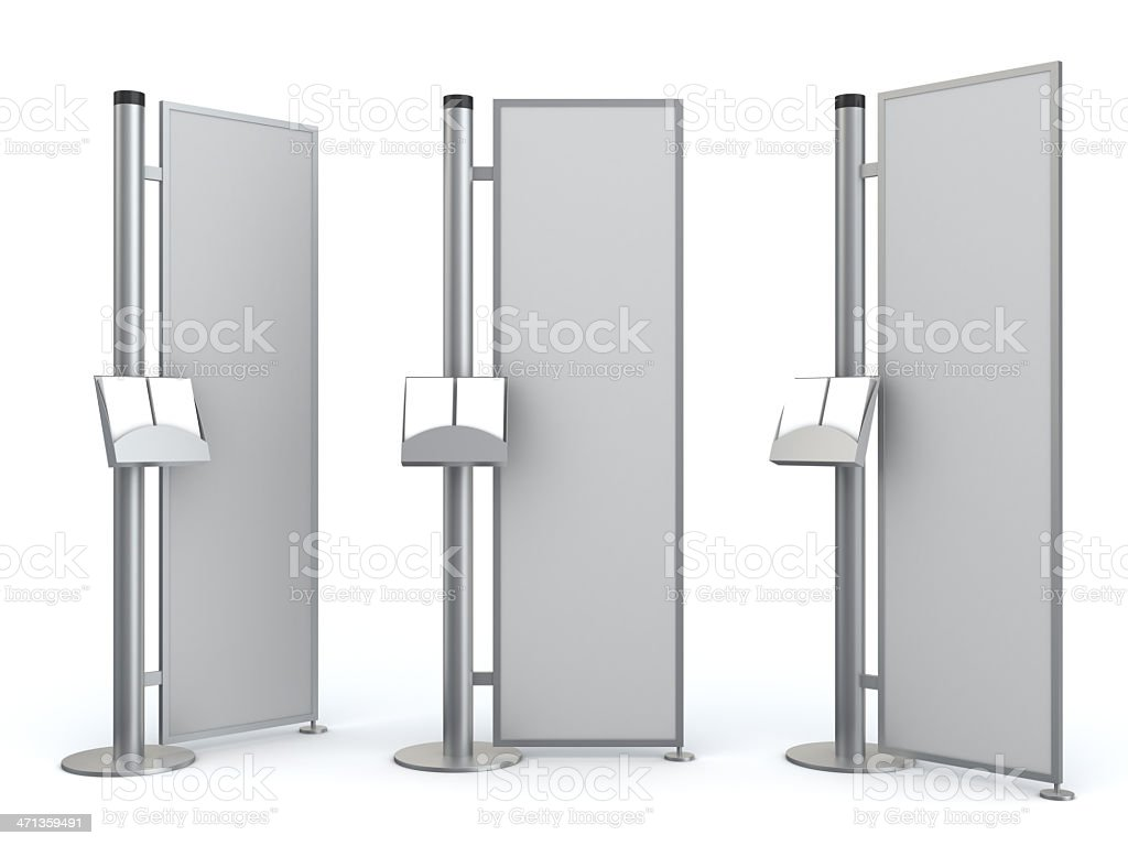 3d blank advertisement information center royalty-free stock photo