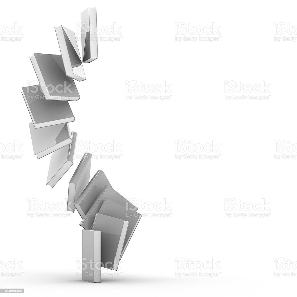 3d Blank book cover over white background royalty-free stock photo