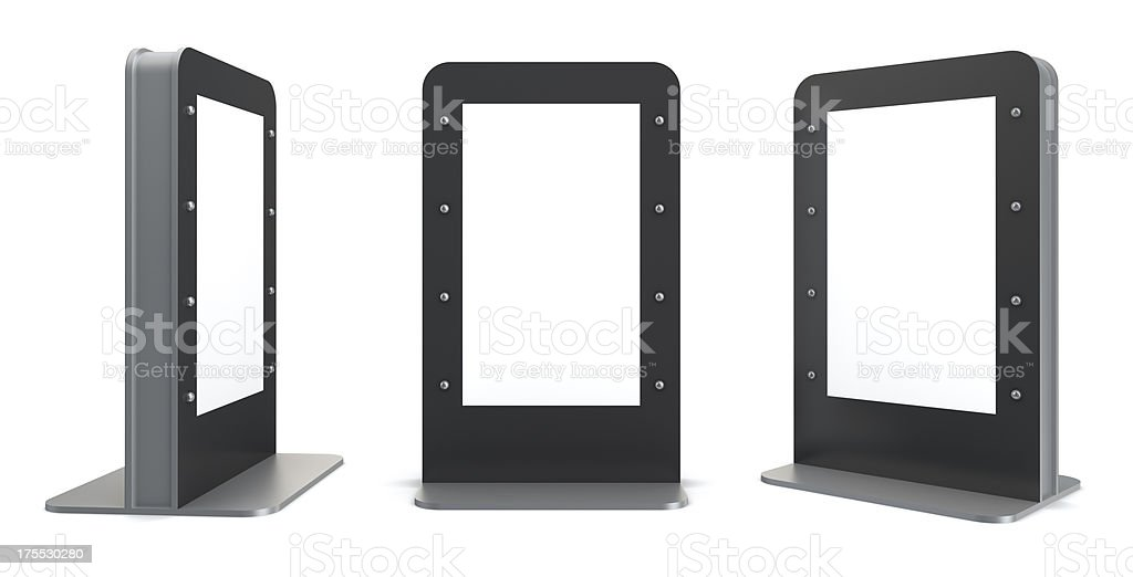 3d blank display panel royalty-free stock photo