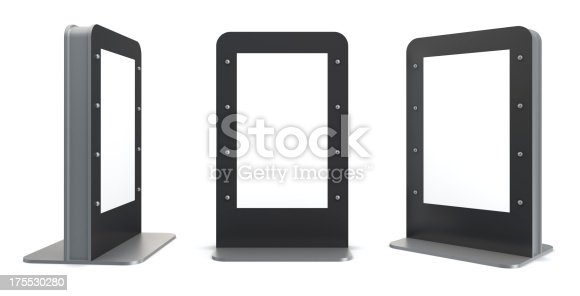 istock 3d blank display panel 175530280