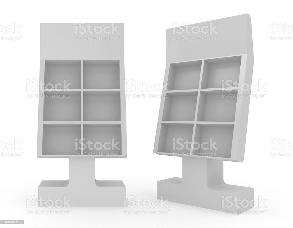 3d blank Floor Stand royalty-free stock photo