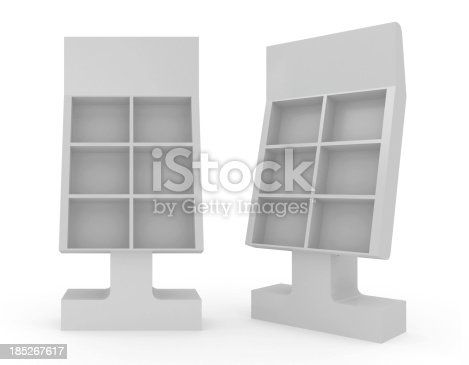 istock 3d blank Floor Stand 185267617