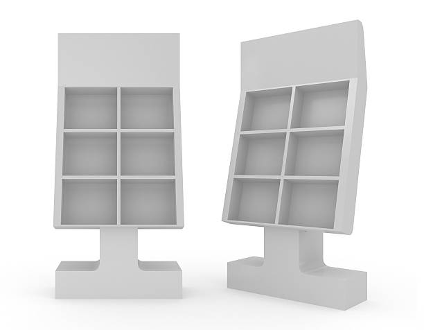 3d blank Floor Stand 3d blank Floor Stand magazine rack stock pictures, royalty-free photos & images