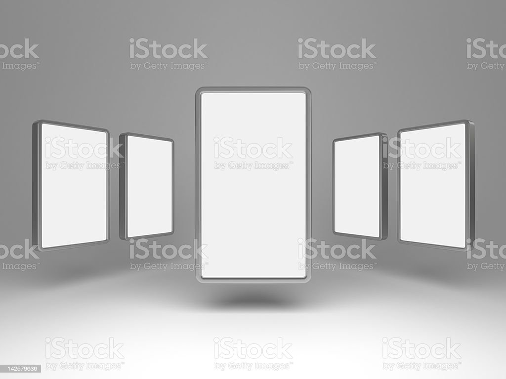3d blank gallery display royalty-free stock photo