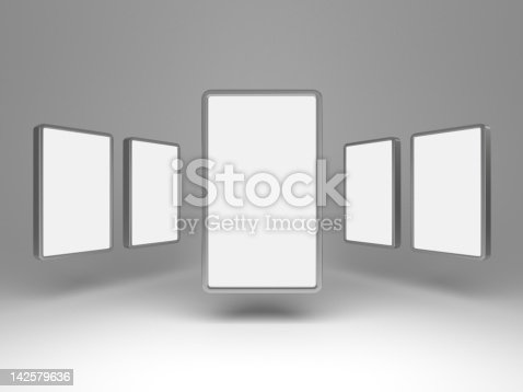 istock 3d blank gallery display 142579636