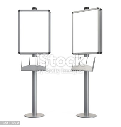 istock 3d blank indication information stand with brochures 185116328
