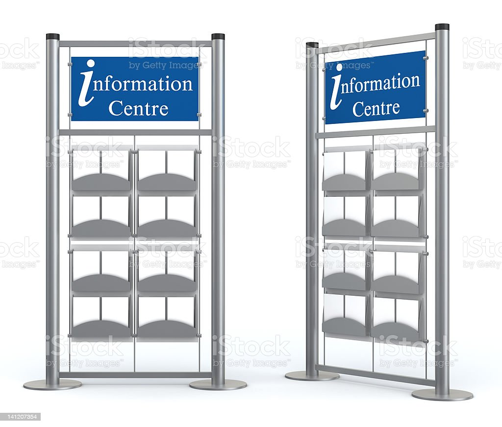 3d blank information center stand royalty-free stock photo
