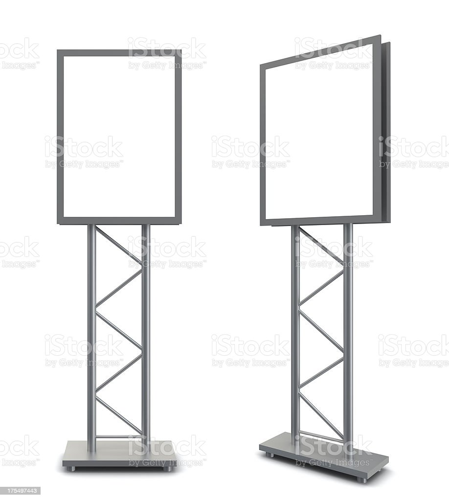 3d blank information poster stock photo