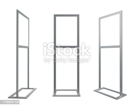 istock 3d blank information stand 175504719