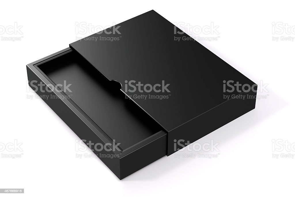 3d blank product package box, on white stock photo