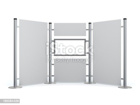 175439992istockphoto 3d blank  stand with video lcd display 185084439