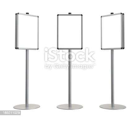 istock 3d blank standing advertising digital poster 185211029