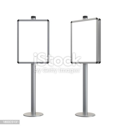 istock 3d blank standing information stand 185323131