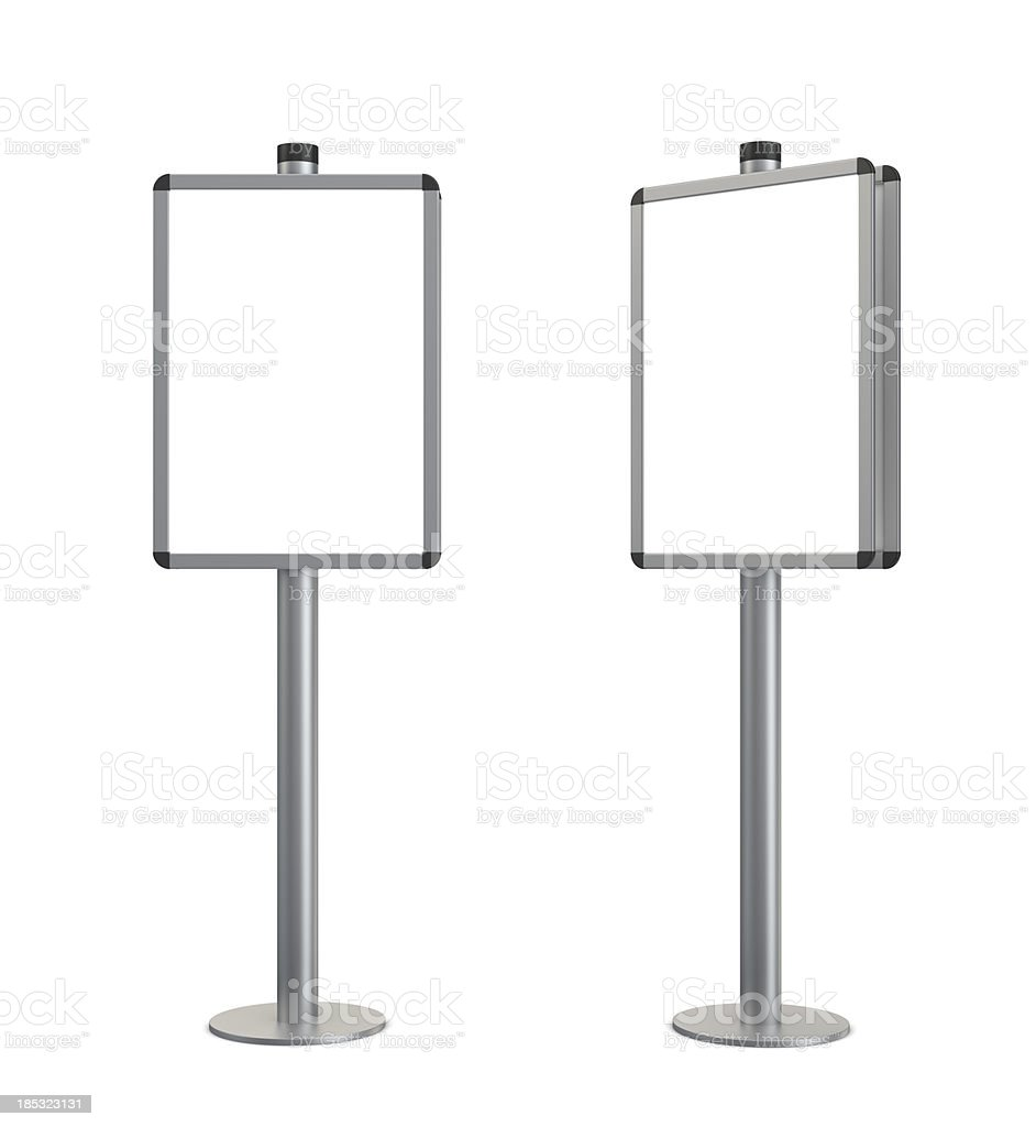 3d blank standing information stand stock photo