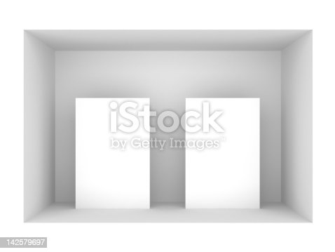 istock 3d blank standing posters 142579697