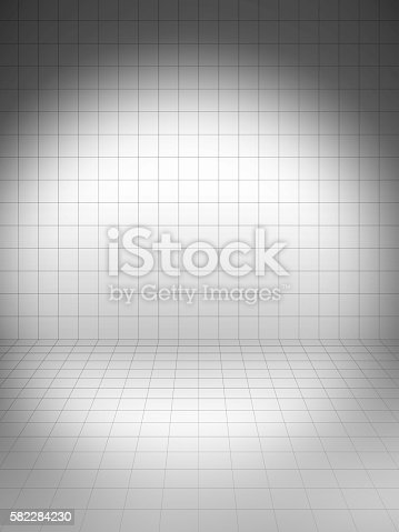 3d blank template layout of simple stage with grid stock photo