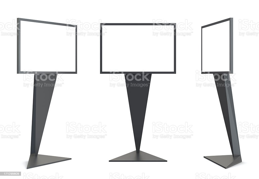 3d blank video display stand,cubism minimalistic  style royalty-free stock photo