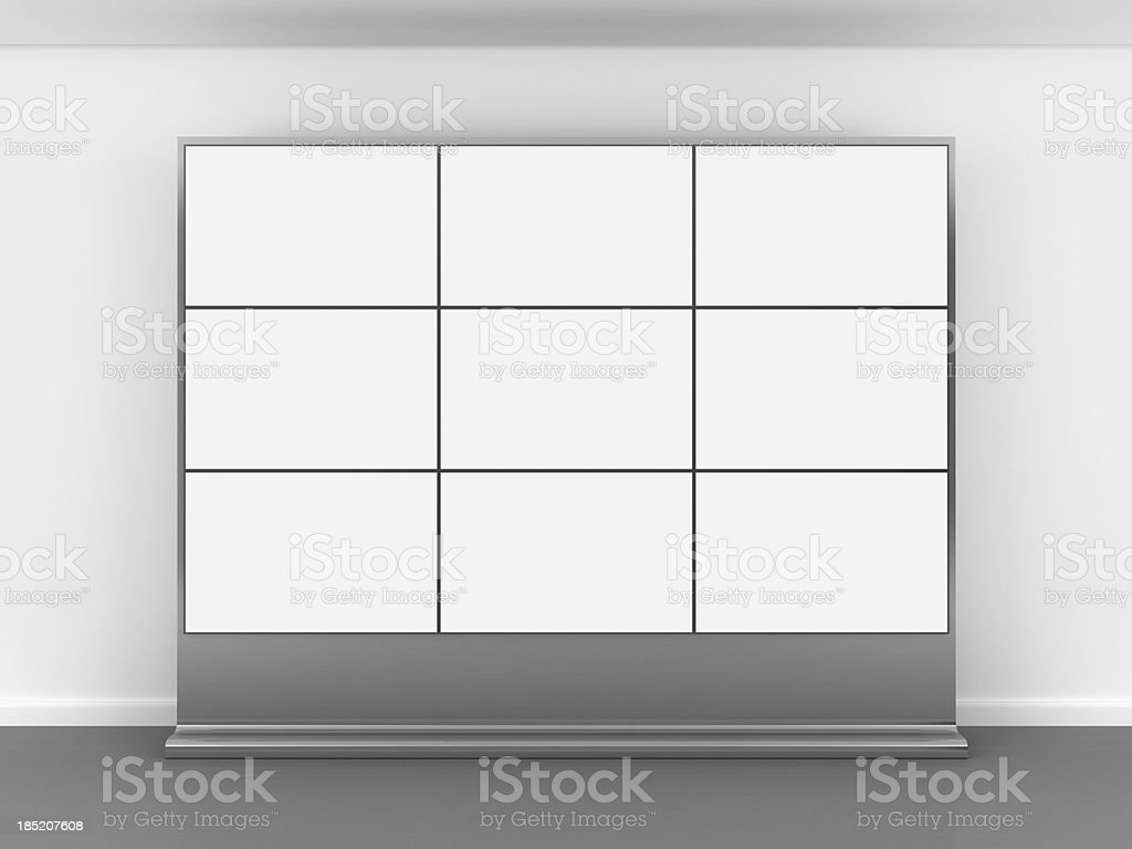 3d blank video wall stock photo