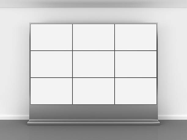 3d blank video wall - control panel stock photos and pictures