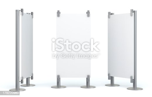 istock 3d blank visual stand 175220980
