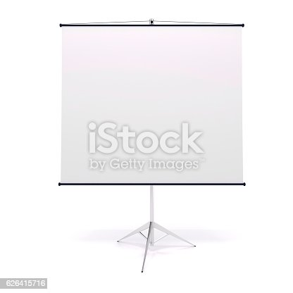 istock 3d blank white rull-up baneer 626415716