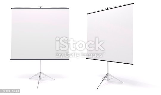 istock 3d blank white rull-up baneer 626415744