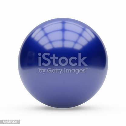 istock 3d blue car paint sphere on white background 846320012