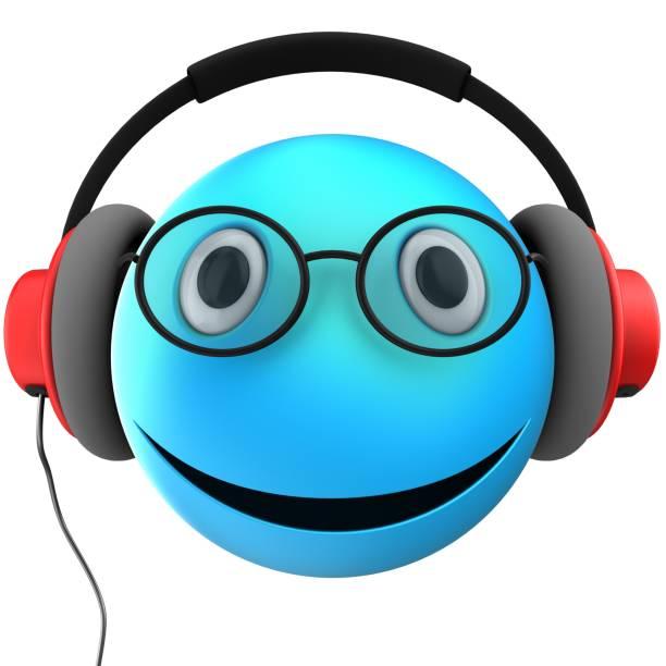 sonrisa de emoticon azul 3d - sequence animation fotografías e imágenes de stock