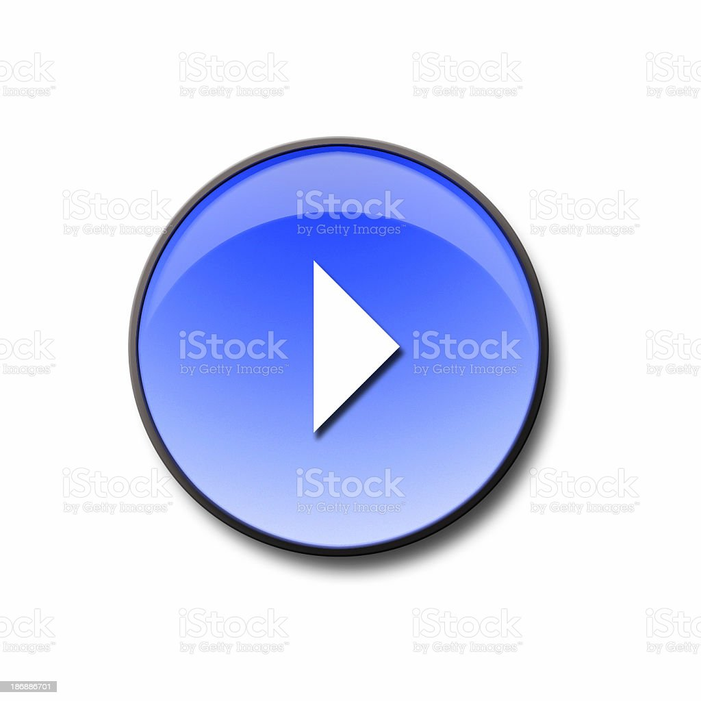 3d Blue Glass Next Button royalty-free stock photo