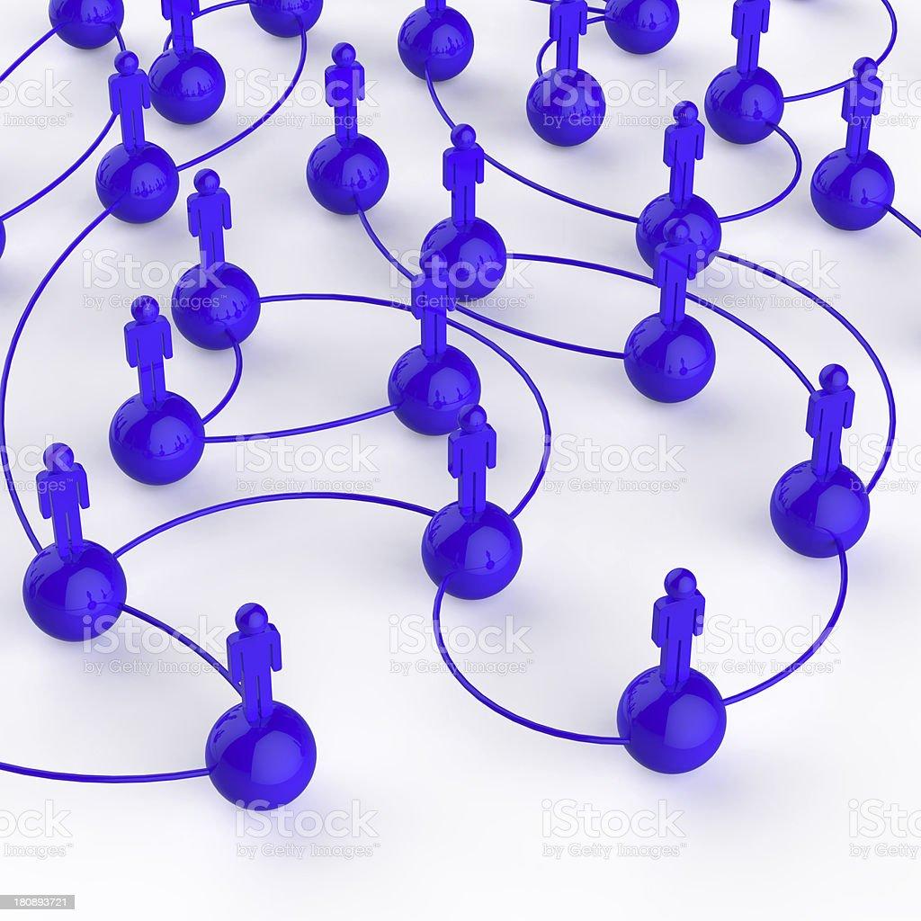 3d blue human social network royalty-free stock photo