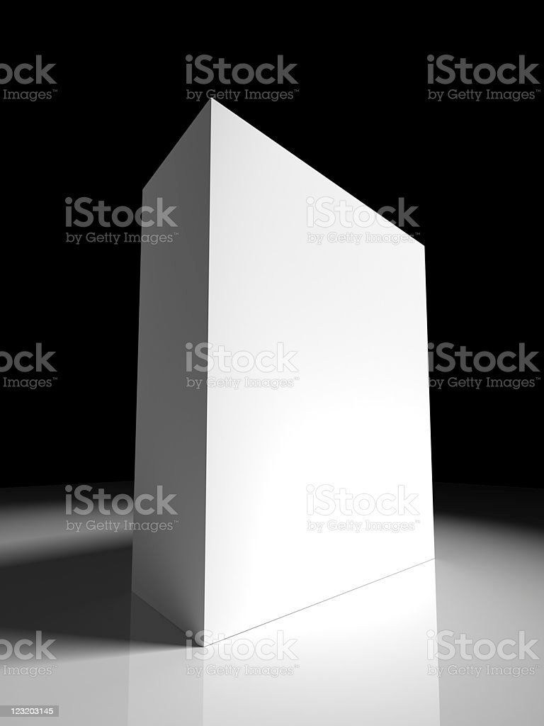 3d Box Template Stock Photo More Pictures Of Black And White Istock