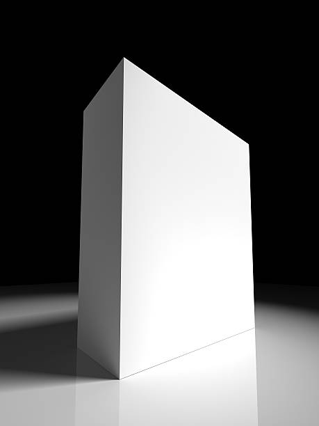 3d box template stock photo