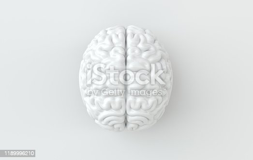 istock 3d brain rendering illustration template background. The concept of intelligence, brainstorm, creative idea, human mind, artificial intelligence. 1189996210