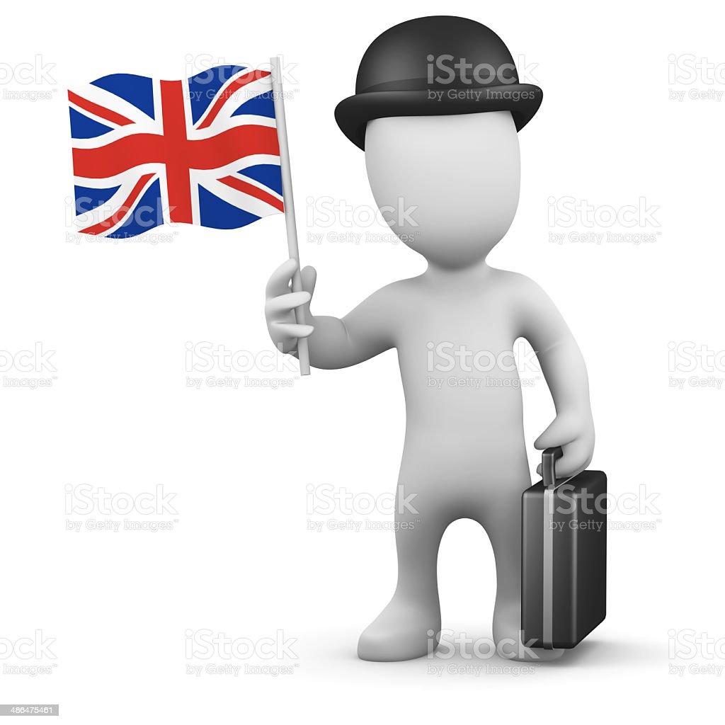 3d British businessman stock photo